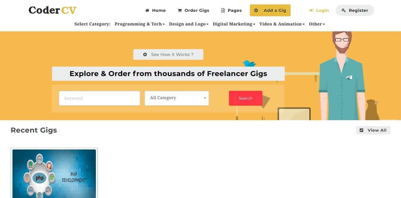 Freelancer - Multi Vendor Gigs Service Marketplace - PHP Laravel script [Fiverr Clone]