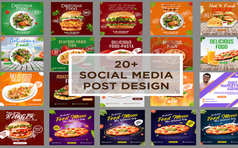 Pizza and Food Social Media Banner for social networks