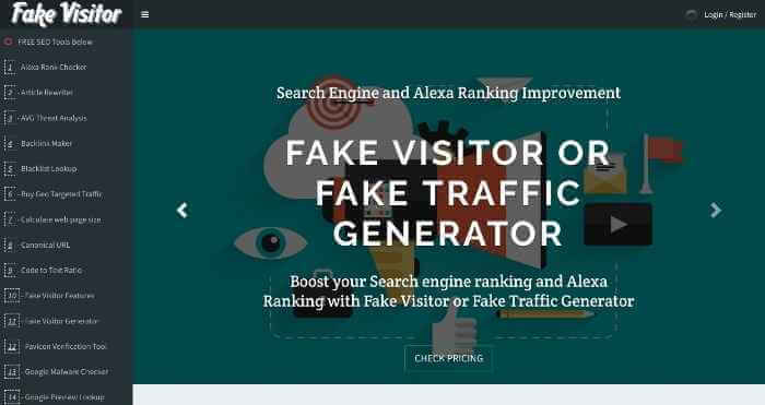 Fake Visitor Stress Testing Tool With 30+ Freemium SEO Tools