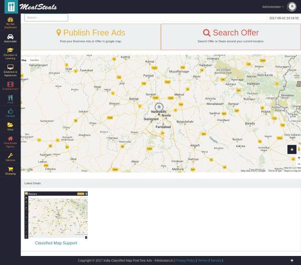 NearByMap Geo Classified Map With Paypal & Stripe Subscription
