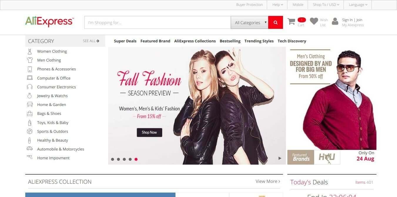 WebAliCommerce - Aliexpress E-Commerce Clone [ HTML Template ]